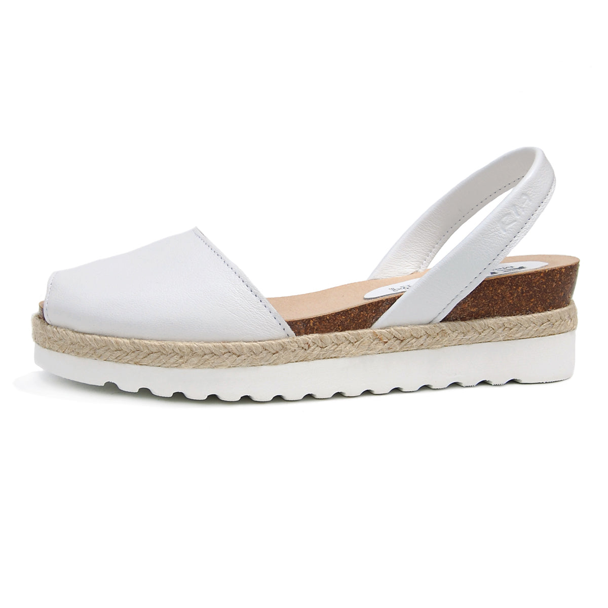 Cala Avarcas Menorcan Sandals in White