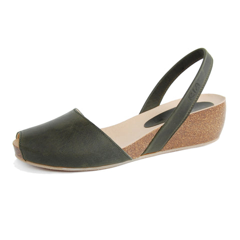 Cardona Avarcas Cork Wedge in Khaki