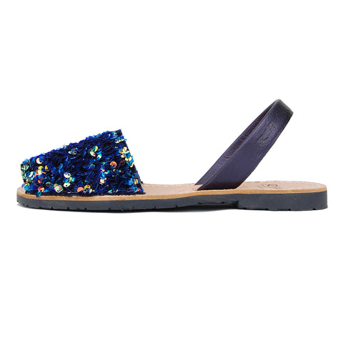 Luces Avarcas Sequins Menorcan Sandals in Opal