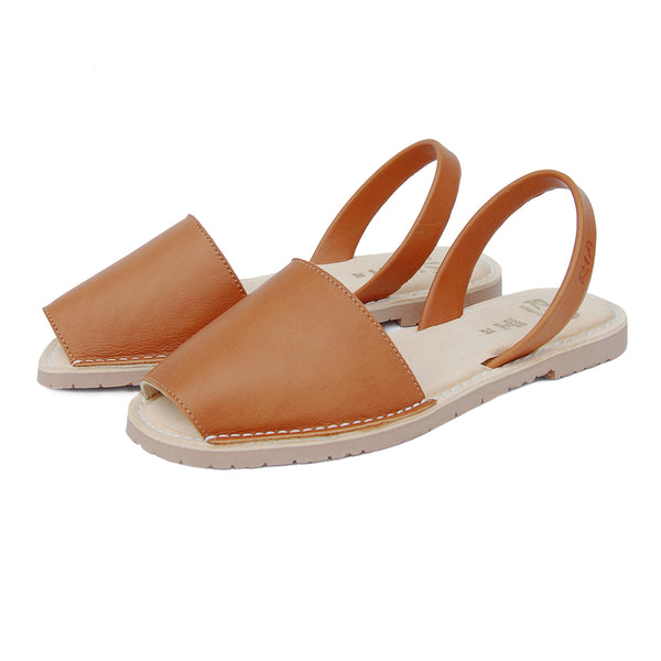 Avarcas Cushioned Sandals Avila in Tan