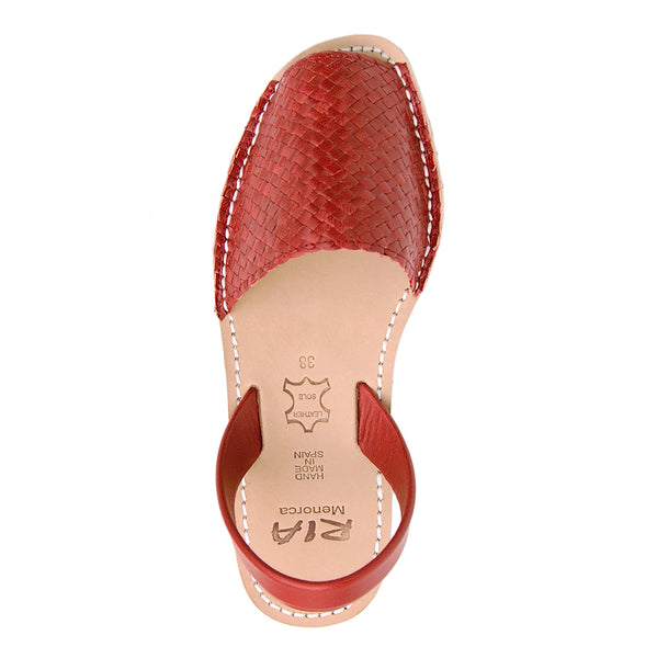 Avarcas Menorcan Sandals Fornells in Red