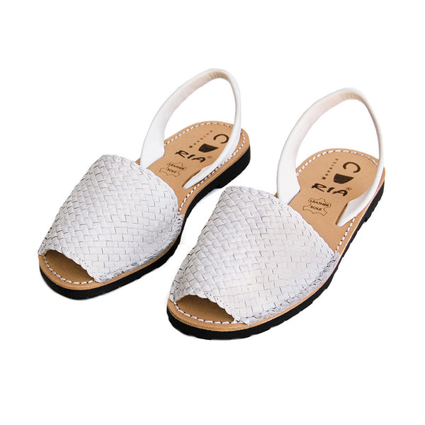 Avarcas Menorcan Sandals Fornells in White
