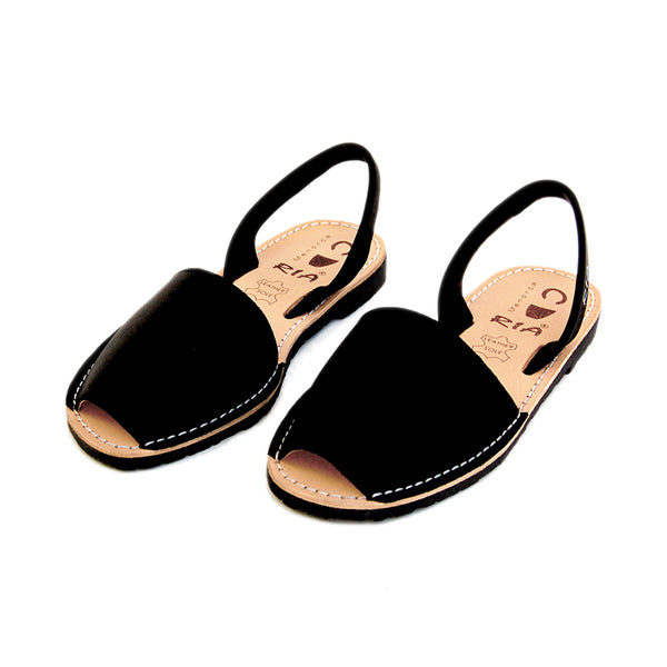 Mens Avarcas Menorcan Sandals Torres in Black