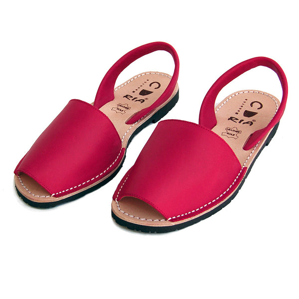 Avarcas Menorcan Sandals Morell in Red