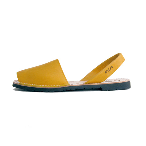 Avarcas Menorcan Sandals Morell in Mustard Yellow