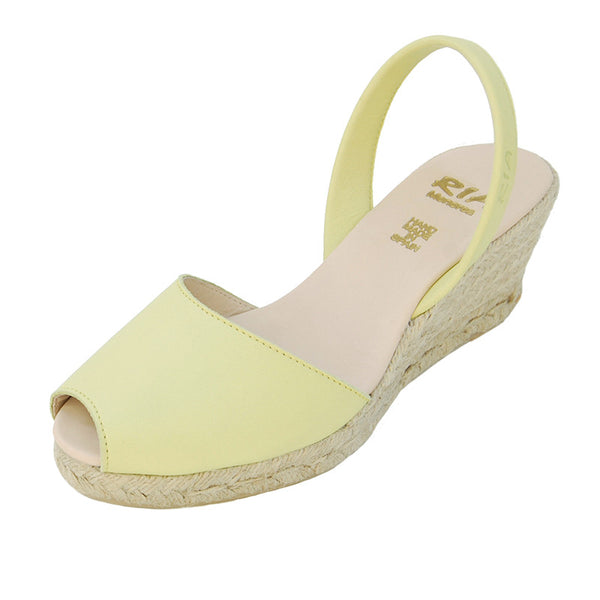 Avarcas Wedge Espadrilles Foro in Lime