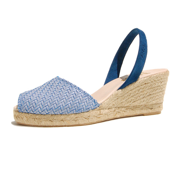 Avarcas Wedge Espadrilles Morena in Blue