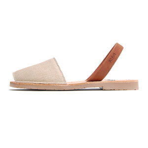 Mens Avarcas Menorcan Sandals Torres in Linen Canvas