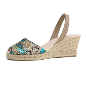 Lopez leather Sandals in Klimt Green
