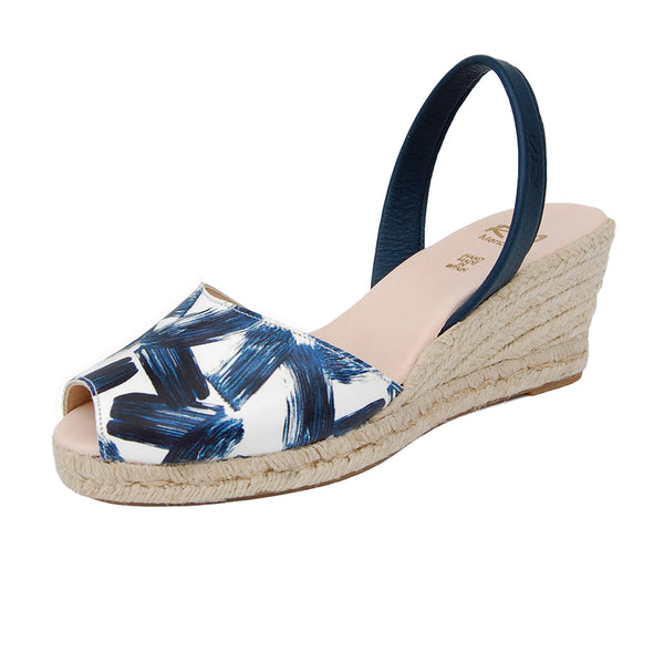 Samoa leather Sandals in Navy brush