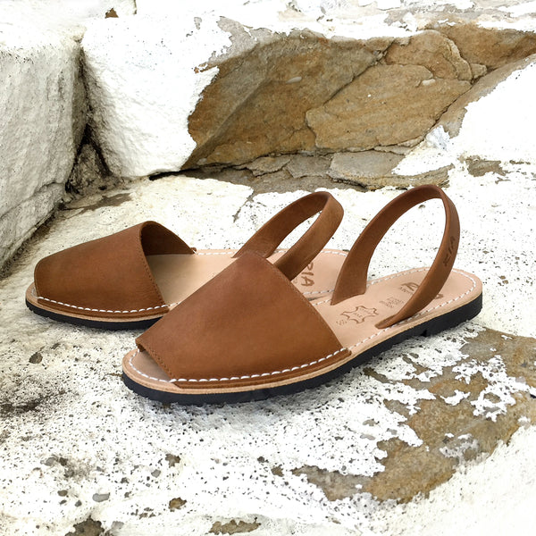 Ria Menorca Avarcas Tan Brown Menorcan Sandals