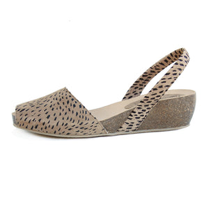 Avarcas Cork Wedge Cardona in Lynx Look