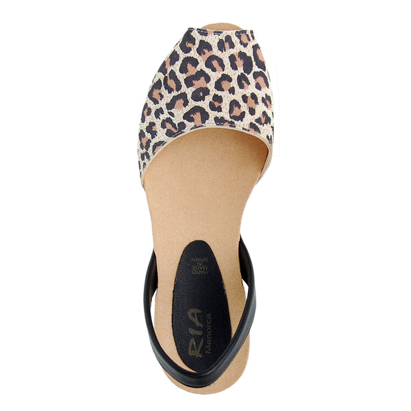 Avarcas Cork Wedge Cardona in Panther
