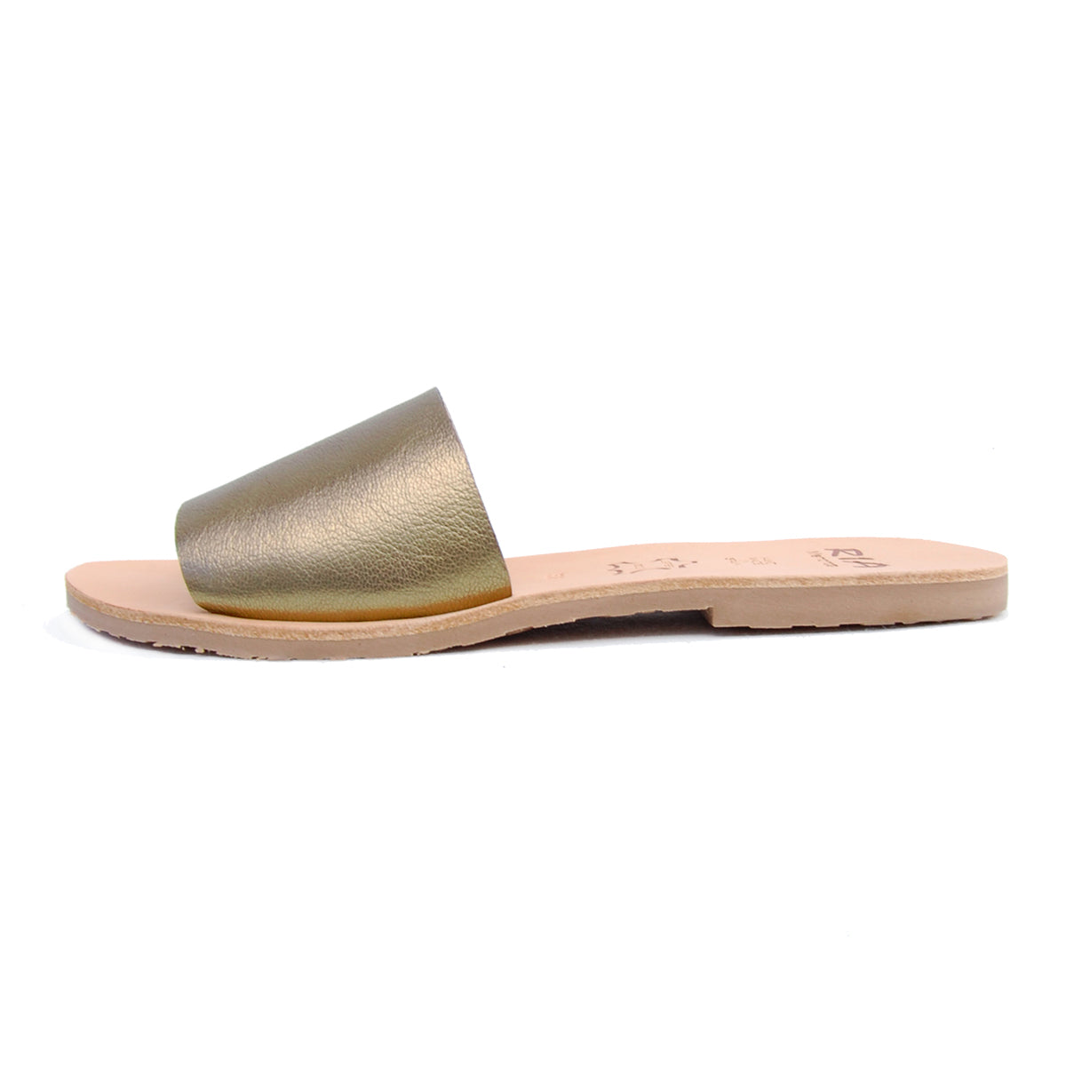Llux Spanish Slides in Metallic Bronze