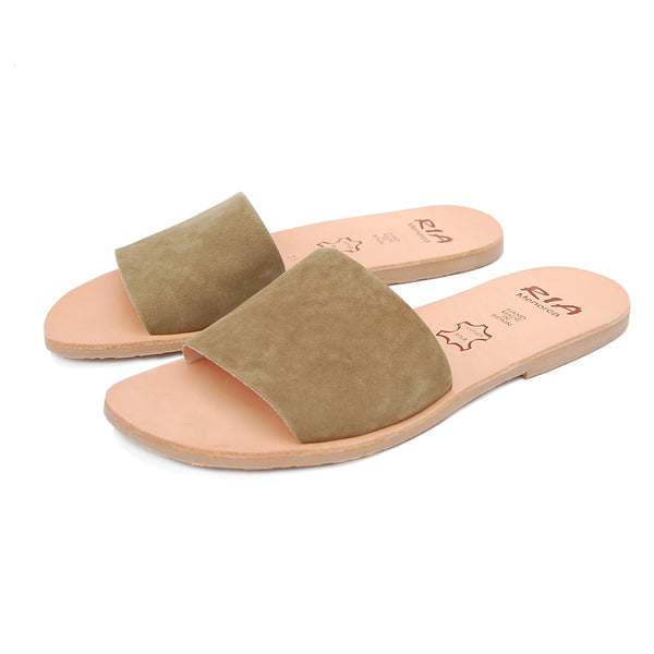 Llux Spanish Slides in Olive