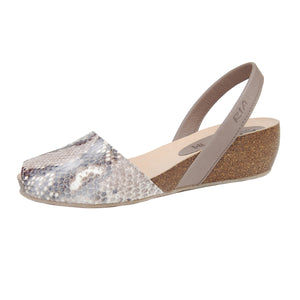 Turo Avarcas Cork Wedge in Brown