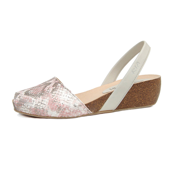 Turo Avarcas Cork Wedge in Pink