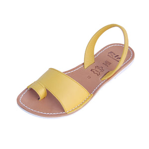 Avarcas Menorcan Sandals Costa in Sun Yellow