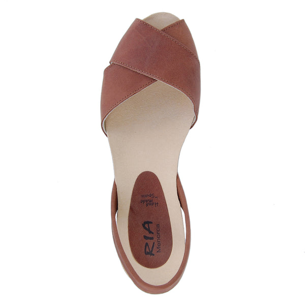 Cruz Cork Wedge in Tan