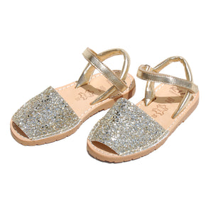 Ria Menorcan Avarcas Girls Kids Glitter Sandals