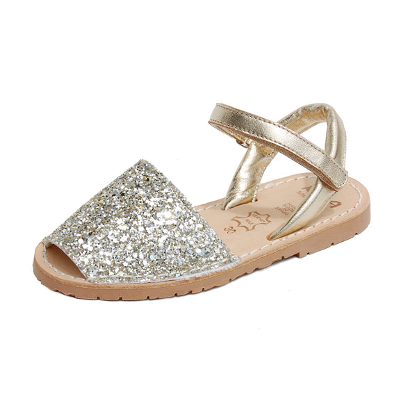 Ria Menorca Glitter Girls Kids Childrens Sandals Flower Girl Wedding Communion Sandals