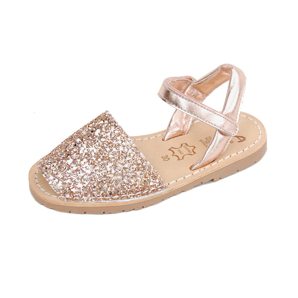 Girls Avarcas Juliet in Glitter Rose
