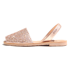 Avarcas Glitter Menorcan Sandals Joan in Rose