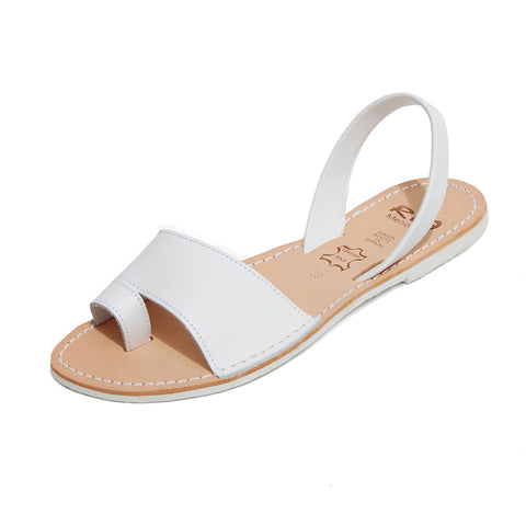 Avarcas Menorcan Sandals Costa in White