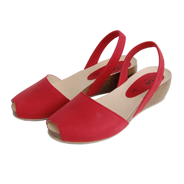Cardona Avarcas Cork Wedge in Red