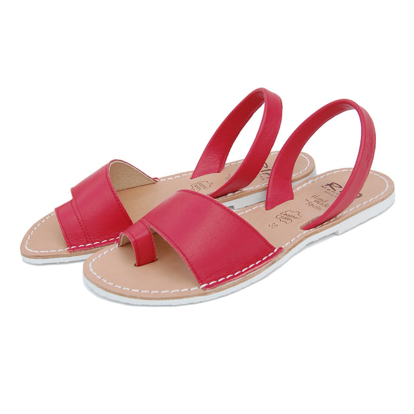 Costa Avarcas Menorcan Sandals in Cherry