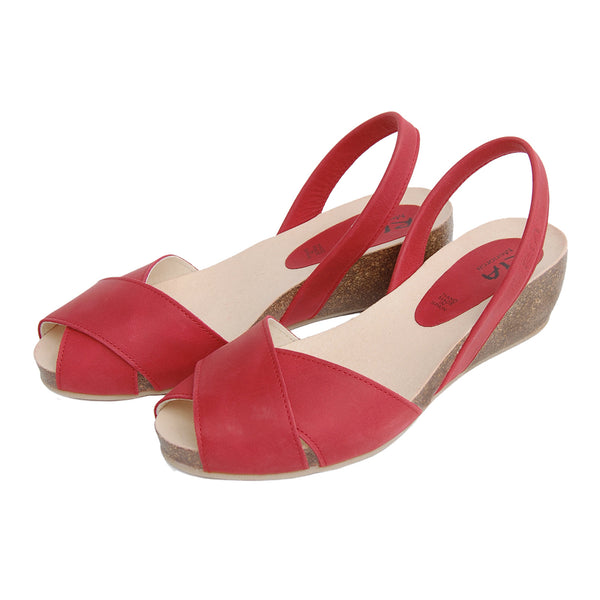 Cruz Cork Wedge in Red