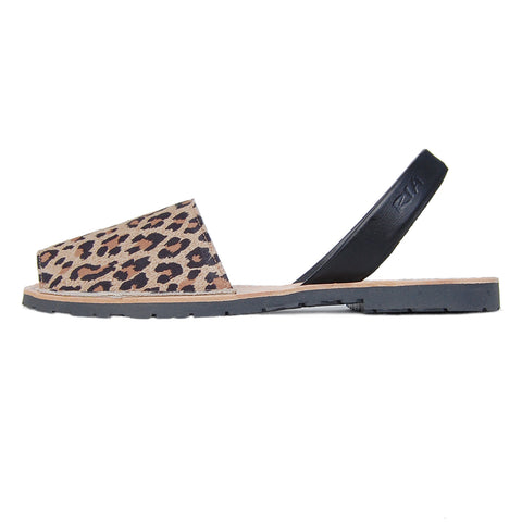 Mancha Avarcas Sandals in Leopard