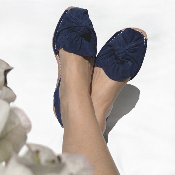 Sierra Avarcas Menorcan Sandals in Navy