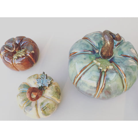 Pottery Pumpkins-Angela Wood Designs