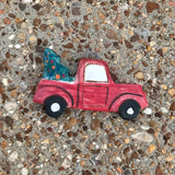 Christmas Truck Pottery Ornament-Angela Wood Designs