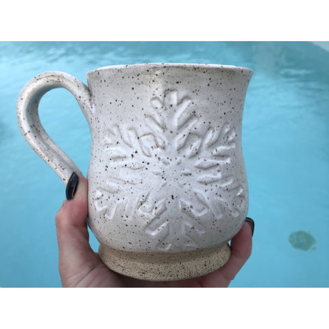 Snowflake Speckled Mug - Angela Wood Designs