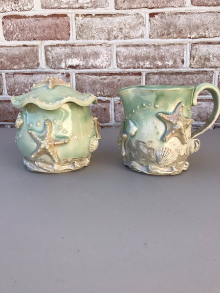 Stars of the Sea Cream and Sugar Set-Angela Wood Designs