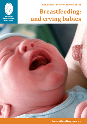 Breastfeeding: and crying babies cover