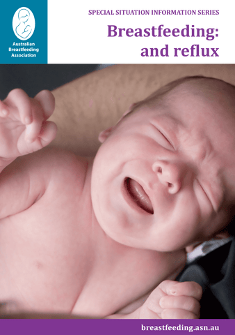 Breastfeeding: and reflux cover