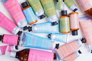 planet earth body care collection bottles and tubes