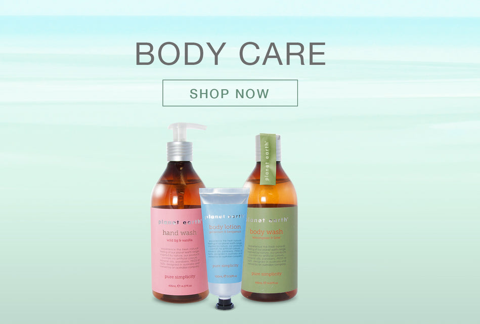 shop body care by planet earth