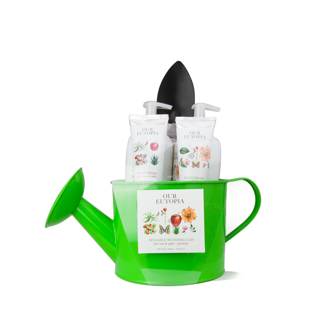 Reusable green watering can utopia planet earth hand care