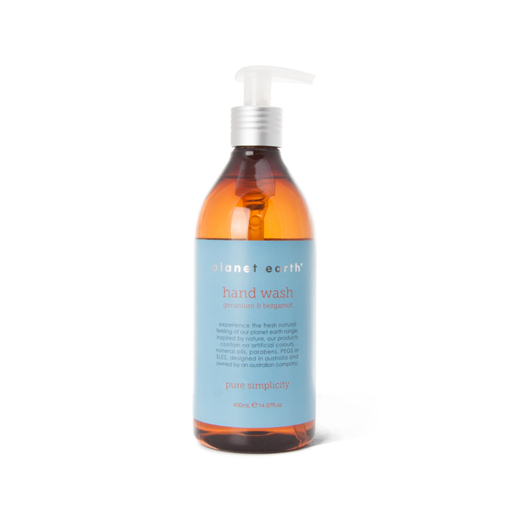 400ml Hand Wash - Geranium & Bergamot - The Grain Shop Online Store
