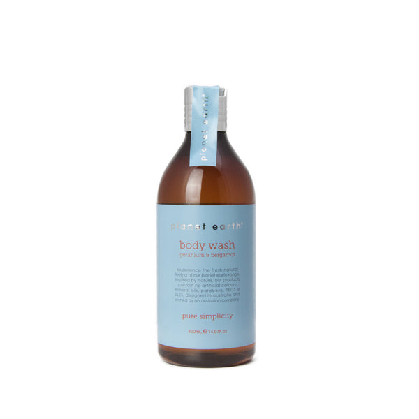400ml Body Wash - Geranium & Bergamot - The Grain Shop Online Store