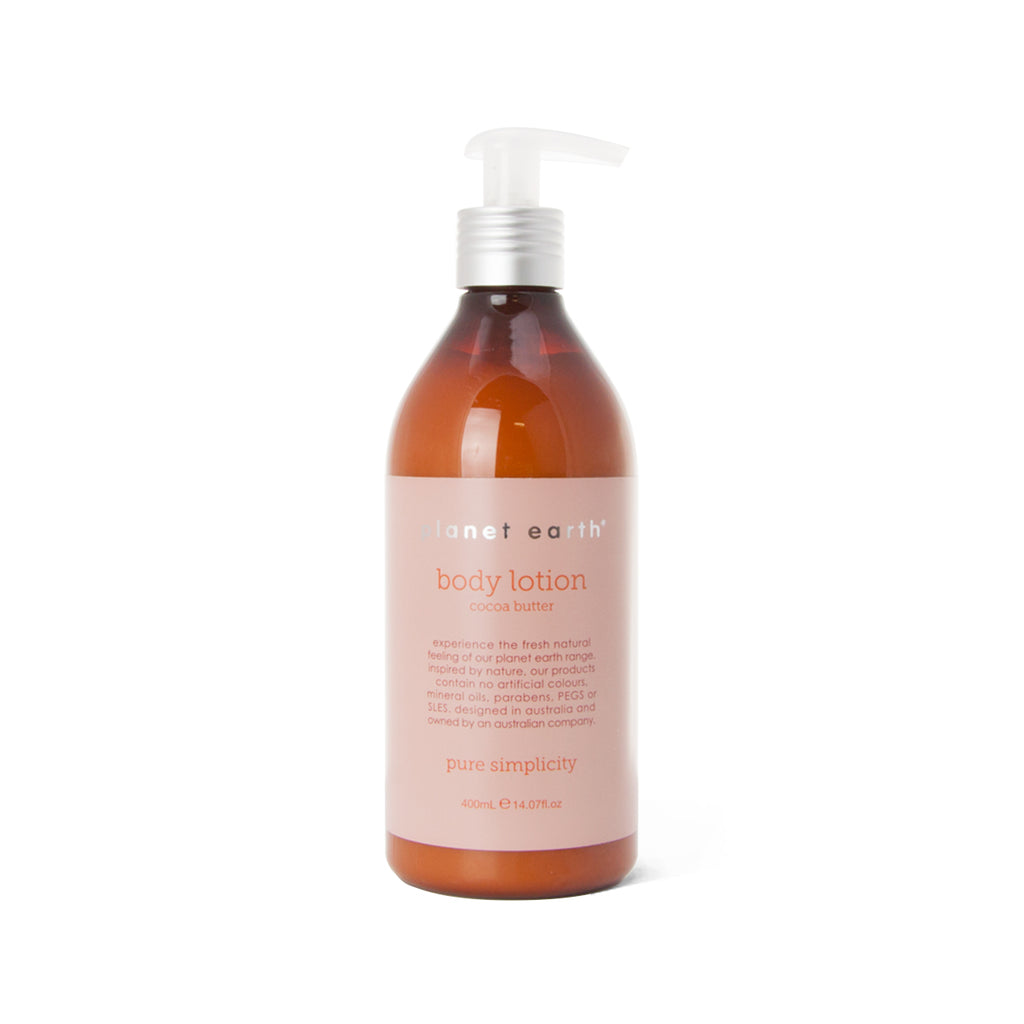 body lotion 400ml pump bottle cocoa butter fragrance