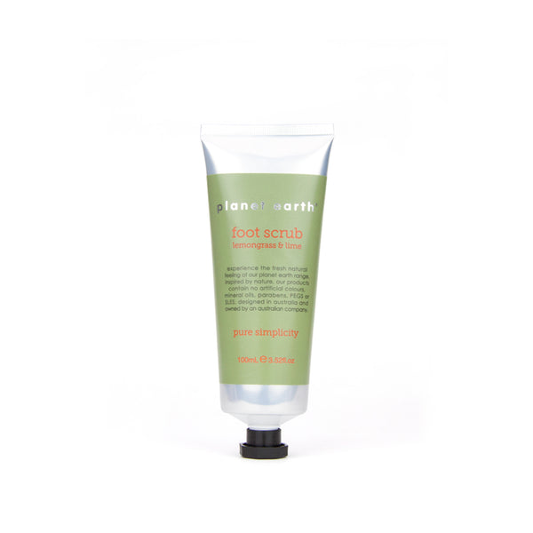 foot scrub lemongrass and lime green in 100ml tube