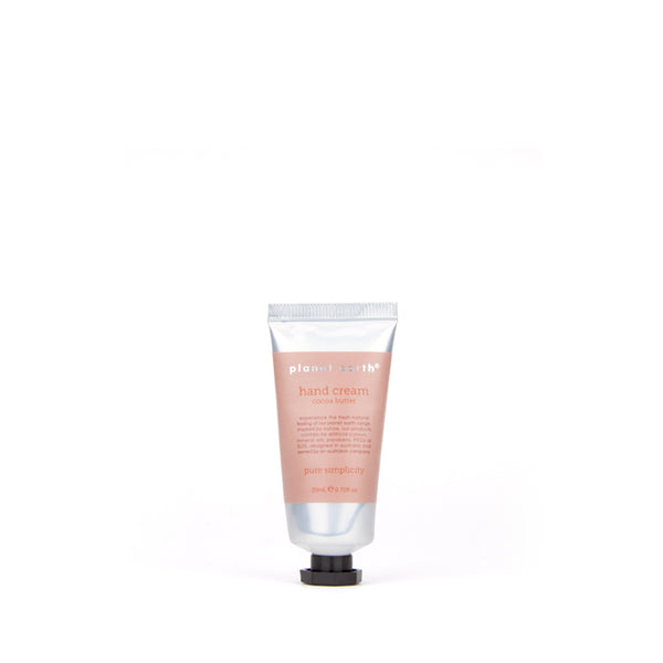 hand cream 20ml mini tube cocoa butter by planet earth