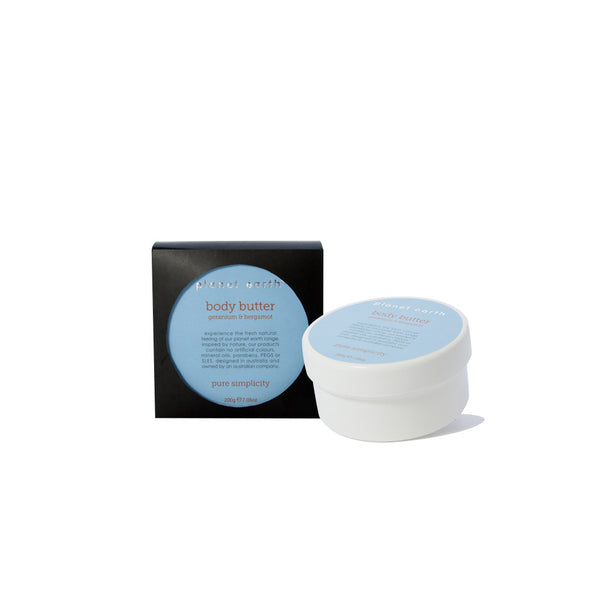 Body Butter - Geranium & Bergamot - Planet Earth Naturals Skin & Body Care