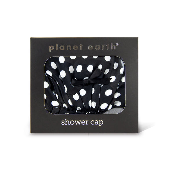 Shower cap - Black Dots - The Grain Shop Online Store
