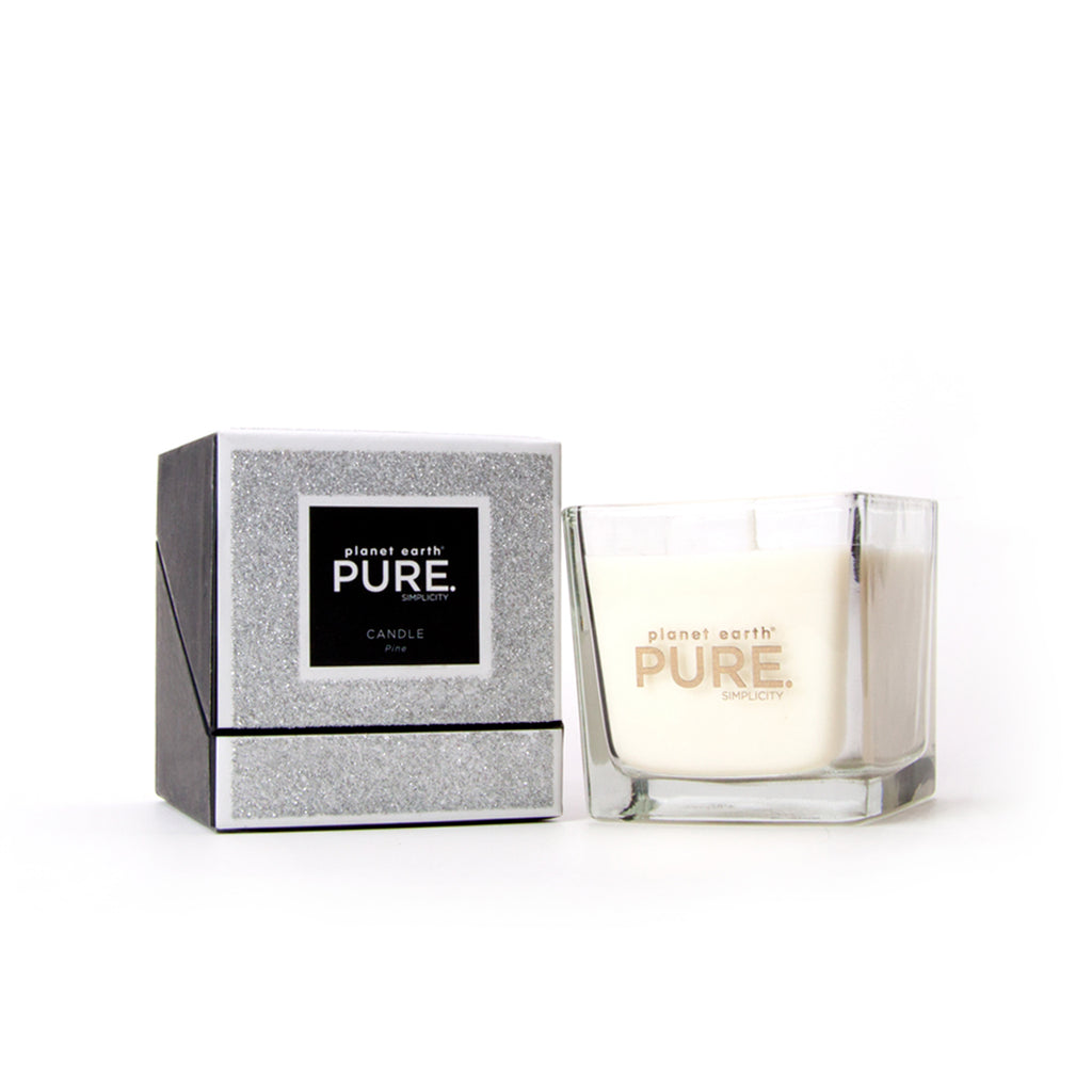Small Square Candle - Pine Silver Glitter - The Grain Shop Online Store